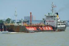 lpg河船 库存照片