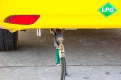 LPG bij benzinestation Royalty-vrije Stock Afbeeldingen