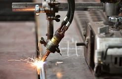 LPG cutting with sparks Stock Image
