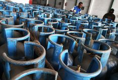 Lpg gas cylinders Royalty Free Stock Image