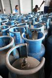 Lpg gas cylinders Stock Photos