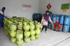 Lpg gas cylinders Royalty Free Stock Photo