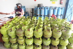 Lpg gas cylinders Stock Images