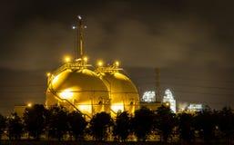 LPG gas industrial storage sphere tanks Royalty Free Stock Image