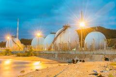 LPG gas industrial storage sphere tanks Royalty Free Stock Photos