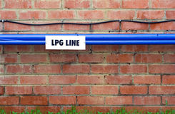 LPG Gas Line on wall Royalty Free Stock Photo