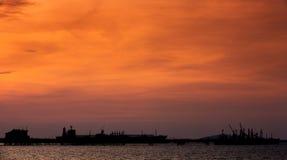 LPG (liquid petroleum gas) tanker at Black sea Stock Photo