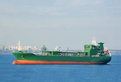 LPG (liquid petroleum gas) tanker at sea Stock Photos