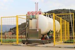 lpg-petrolstation Arkivfoton