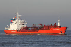 LPG tanker CORAL MEANDRA on the river Elbe Stock Images