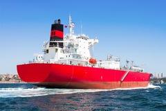 LPG Tanker Ship. Sailing in the sea Stock Image