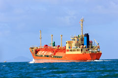 LPG Vessel at mid of sea Royalty Free Stock Image