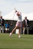LPGA de T-stukken van golfspelerPaula Creamer weg Stock Afbeeldingen