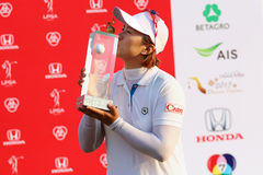 LPGA 2015. PATTAYA, THAILAND - March 2: Amy Yang of South Korea the winner of Handa LPGA Thailand 2015 at Siam Country Club in Chonburi, Thailand on  March 2 Royalty Free Stock Image