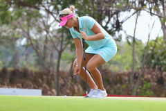 LPGA 2015. PATTAYA, THAILAND - March 2: Anna Nordqvist of Sweden plays the shot during four of the 2015 LPGA Thailand at Siam Country Club in Chonburi, Thailand Stock Images