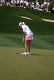LPGA Paula Creamer lines up final shot Royalty Free Stock Photography