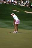 LPGA Paula Rahmtopf richtet abschließenden Schuß aus Lizenzfreie Stockfotografie
