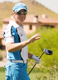 LPGA Pro Golfer Annika Sorenstam. Waves to fans at the beginning of the final round of the Safeway International LPGA golf tournament at Superstition Mountain Stock Images