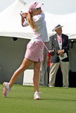 LPGA pro golfer Paula Creamer. Fan favorite pro golfer Paula Creamer starts the final round of the LPGA Safeway International at Superstition Mountain Golf and Royalty Free Stock Photography