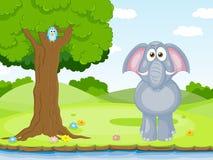 Éléphant drôle Images stock