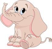 Éléphant mignon de chéri Images libres de droits