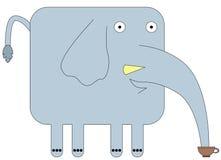 Éléphant sur la coupure Photo stock