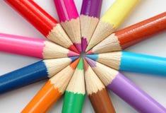 Lápices coloreados Imágenes de archivo libres de regalías