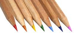 Lápices en colores del arco iris Imágenes de archivo libres de regalías