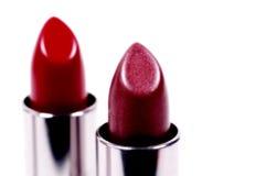 Lápices labiales rojos Fotografía de archivo libre de regalías