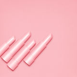 Lápices labiales rosados Fotografía de archivo
