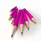 Lápices rosados Imagen de archivo libre de regalías