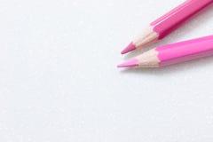 Lápices rosados Imagenes de archivo