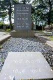 Lápida mortuoria de Yeats s Fotografía de archivo