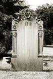 Lápida mortuoria en blanco Fotografía de archivo