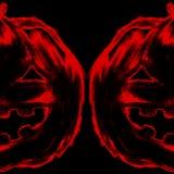 Lápis de carvão vegetal do giz da cabeça da abóbora da jaque-o-lanterna de Dia das Bruxas Fotografia de Stock