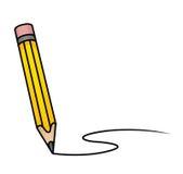 Lápis dos desenhos animados Fotografia de Stock Royalty Free