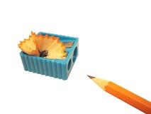Lápis e sharpener Fotografia de Stock Royalty Free