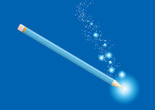 Lápis mágico Foto de Stock Royalty Free