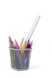 Lápis usados Fotografia de Stock Royalty Free