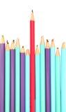 Lápis vermelho - o conceito do líder Fotografia de Stock Royalty Free