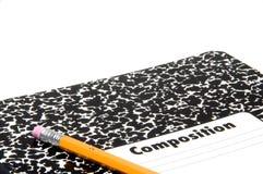 Lápiz y cuaderno Fotos de archivo libres de regalías