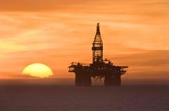 Ölplattform Stockbild