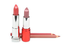 Läppstift och skönhetsmedelblyertspennor Royaltyfri Fotografi