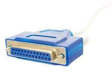 LPT - cable de impresora fotos de archivo libres de regalías