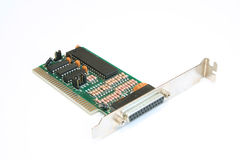 LPT2 Printer Port PCB. Optional printer port card to give additional printer socket Stock Images