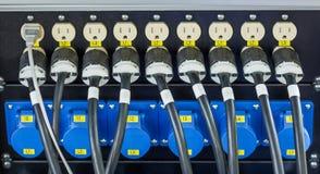 Lpug de cable électrique Photos libres de droits