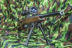 .22 LR  carbine Bolt  rifle. 22 LR  carbine Bolt action rifle Stock Images