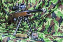 22 LR Karabiner Bolzengewehr Stockbild