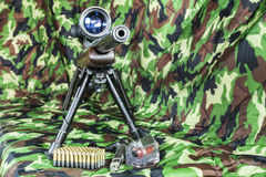 22 LR Karabiner Bolzengewehr Stockfoto