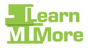 Lär mer gröna abstrakta band Arkivfoto